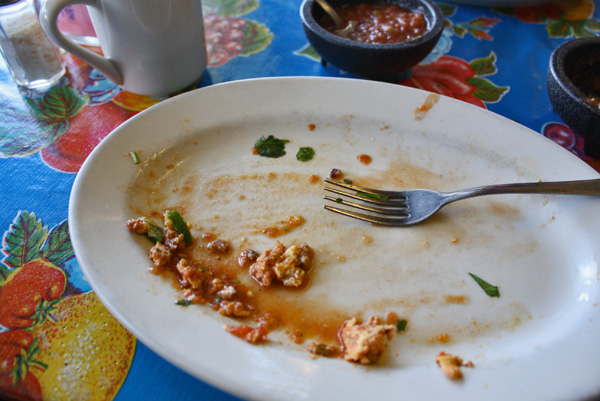 El Jordan Cafe Dallas - Empty Plate