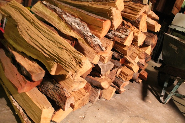hickory wood and peach wood for pig pit