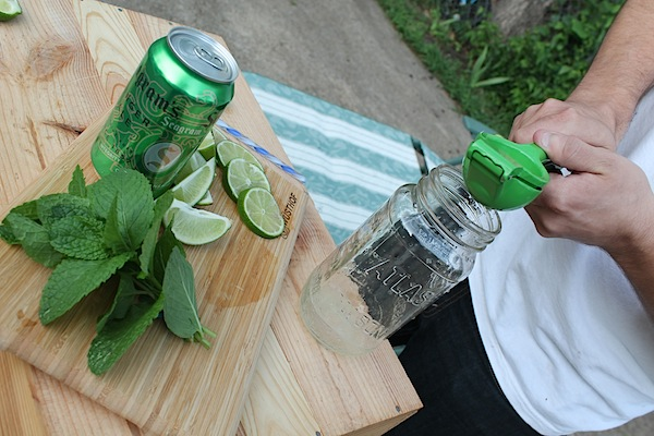 Squeezing limes for a Mojito