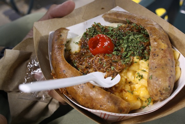 The Sausage Sundae Texas Rangers Crazy Ballpark food