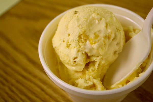 Cornbread ice cream