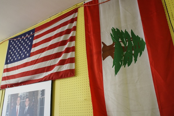 lebanese and American Flags