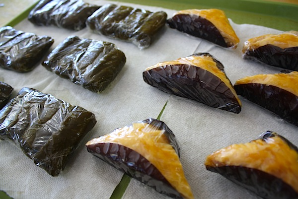 homemade baklava and dolmas