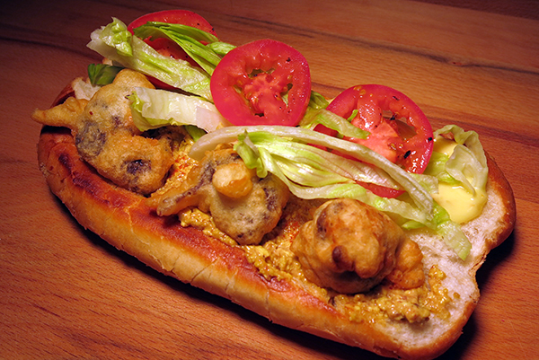 duck egg balut po boy